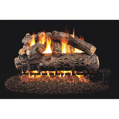 "Real Fyre 30"" Rustic Oak Designer Gas Log Set - US Fireplace Store"