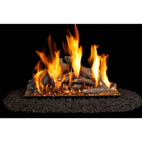 "Real Fyre 30"" Shoreline Designer Oak Gas Log Set - US Fireplace Store"