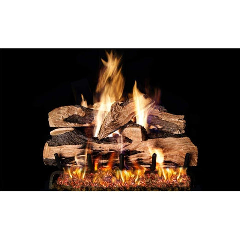 "Real Fyre 30"" Split Oak Designer Plus Gas Log Set - US Fireplace Store"