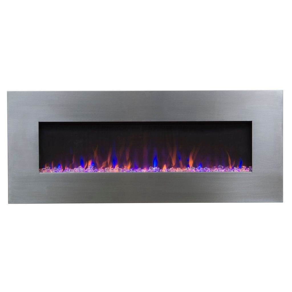 Touchstone AudioFlare Electric Fireplace - Stainless - US Fireplace Store