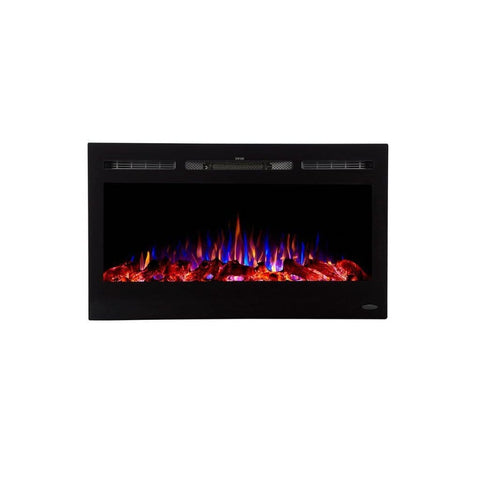 "Touchstone Sideline 36"" Flush Mount Electric Fireplace - US Fireplace Store"