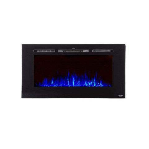 "Touchstone Sideline 40"" Flush Mount Electric Fireplace - US Fireplace Store"