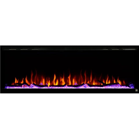 "Touchstone Sideline Elite 60"" Recessed Electric Fireplace - US Fireplace Store"