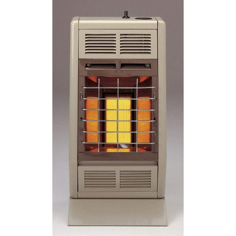 "Empire 11.87"" Manual 1-Heat Setting White 10,000 Btu, Vent-Free Infrared Heater - US Fireplace Store"