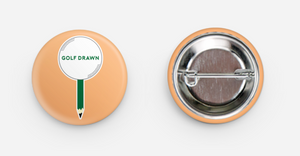 Golf Drawn Button Pins (Set of 3)