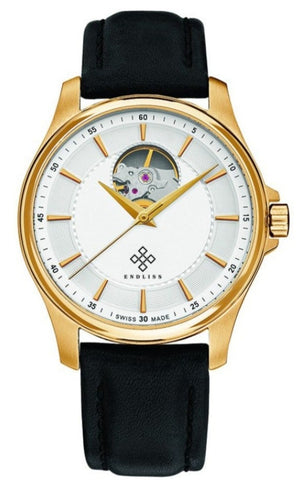 MENS OPEN HEARTED GOLD LEATHER