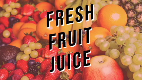 Fresh Fruit Juice Iced