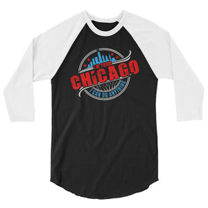 I'm From Chicago 3/4 sleeve raglan shirt