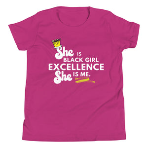 She is Black Girl Excellence Youth Short Sleeve T-Shirt