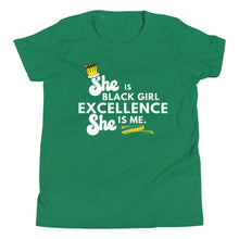 Load image into Gallery viewer, She is Black Girl Excellence Youth Short Sleeve T-Shirt