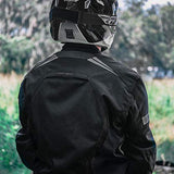 Motorcycle Jacket For Men Cordura Motorbike Racing Biker Riding Breathable CE Armored Waterproof All-Weather (All-Black, XXXX-Large)