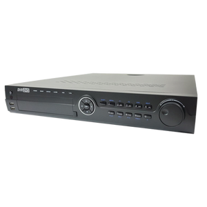 Professional Rack Mounter 12MP 4K Technology, NVR 16 IP Channels with H.265 Video Compression and Built-in Switch PoE of 16 Port