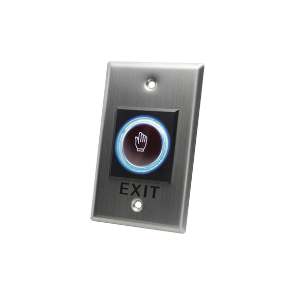 No-Contact Exit Button / IR Sensor / Illuminated / N.O. and N.C. / Adjustable Detection Distance