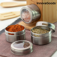 Lataa kuva Galleria-katseluun, Set of Magnetic Spice Racks with Bamboo Utensils Bamsa InnovaGoods 7 Kappaletta