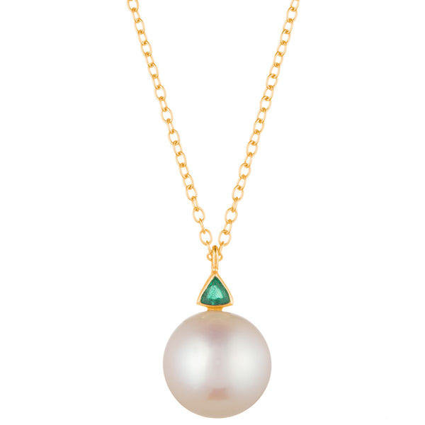 Trillion Pearl Necklace