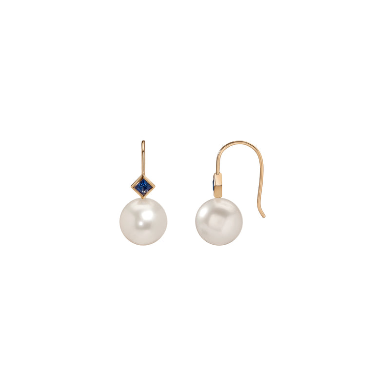 Princess Pearl Earrings - Sapphire