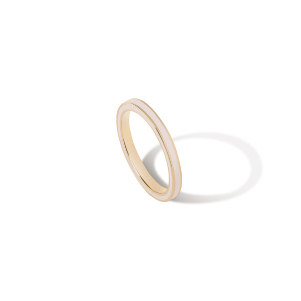 Thin Enamel Band - Blush Pink