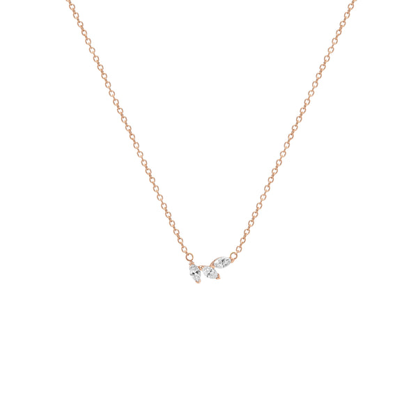 Demi Angel Necklace - Diamond