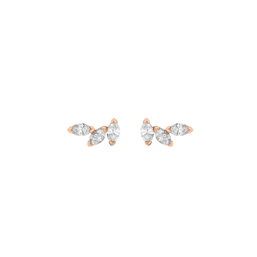 Angel Marquise Earrings - Diamonds