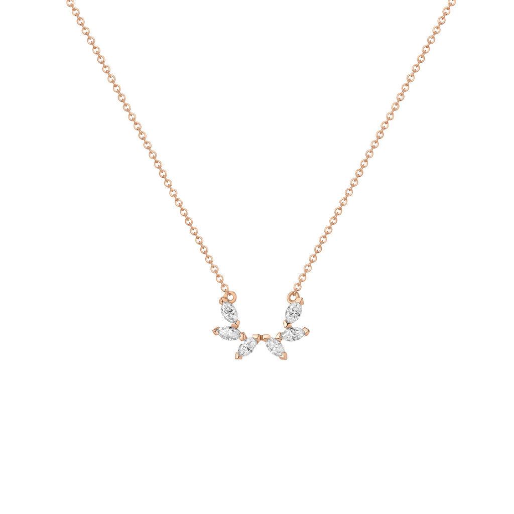 Angel Marquise Necklace - Diamond