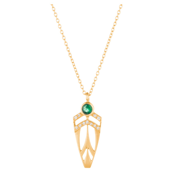 Supernova Arrowhead Necklace - Emerald