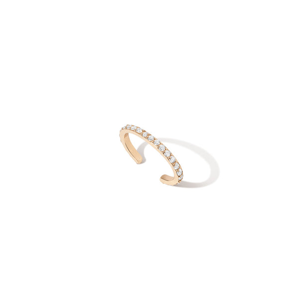Single Diamond Bar Ear Cuff