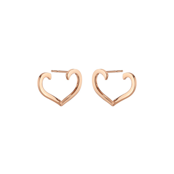 Open Heart Earrings