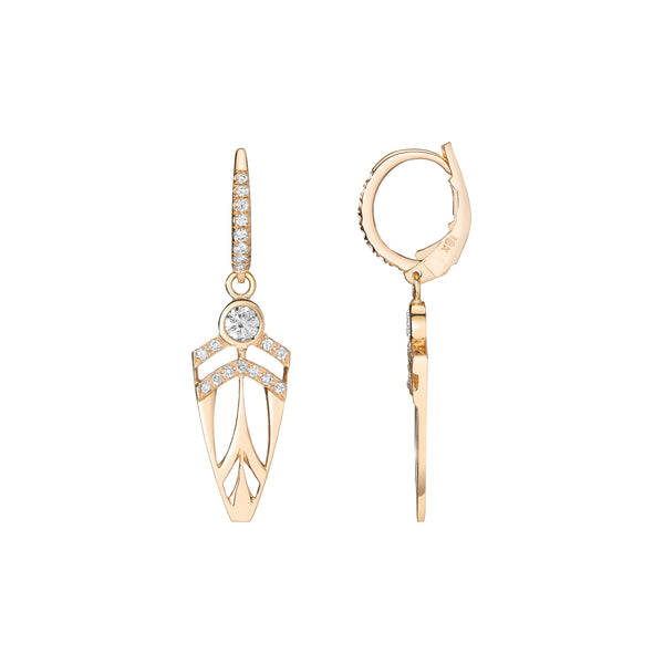 Mini Supernova Arrowhead Deco Earrings