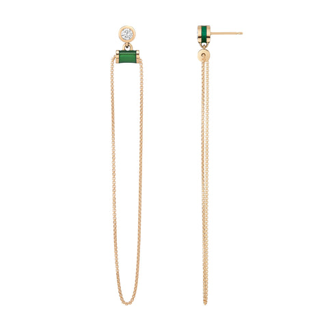 Alise Earrings - Forest Green Enamel