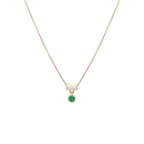 Floating Tube Necklace - Emerald