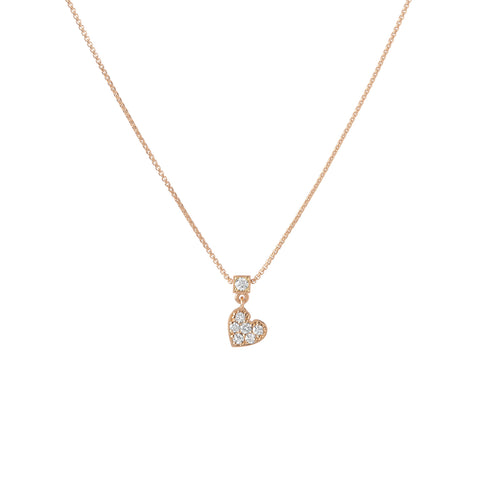 Floating Heart Necklace - Diamond