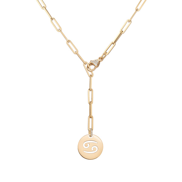 Zodiac Large Link Diamond Necklace