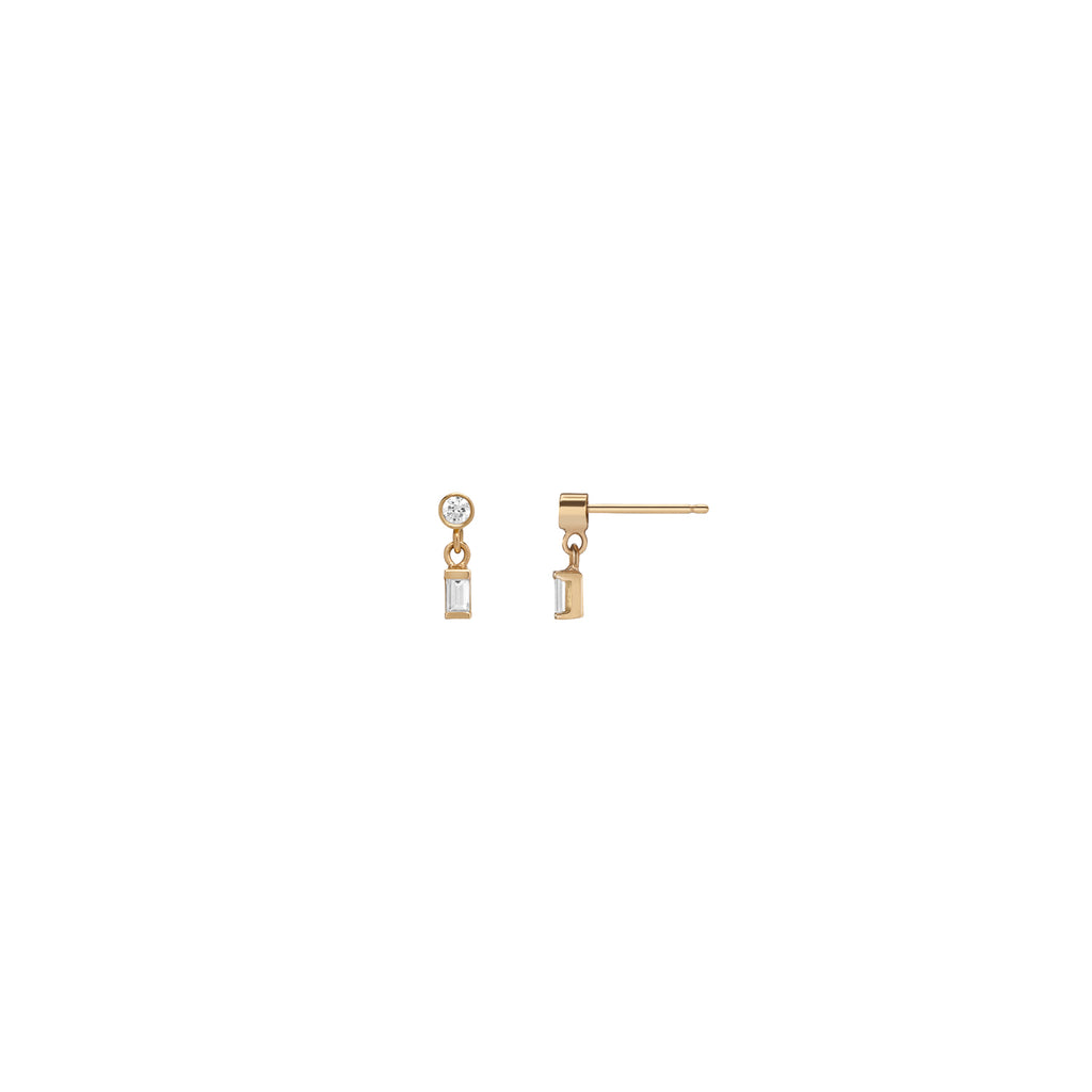 Dangle Baguette Earring - Small