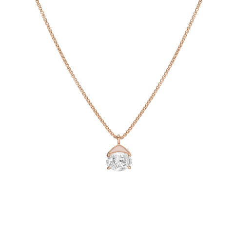 Diamond Foundry Blush Pink Enamel Necklace