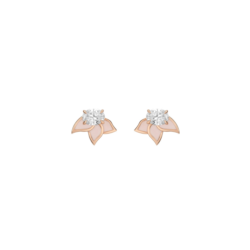 Diamond Foundry Blush Pink Earrings