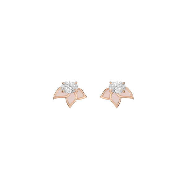 Diamond Foundry Blush Pink Enamel Earrings