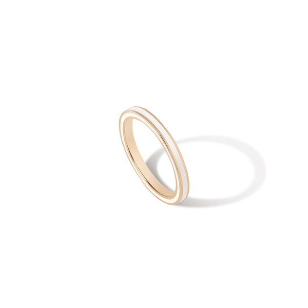 Thin Enamel Band - White