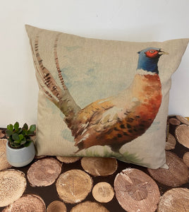Fabric Cushion, Pheasant - Butterfly Crafts