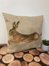 Load image into Gallery viewer, Fabric Cushion, Leaping Hare - Butterfly Crafts
