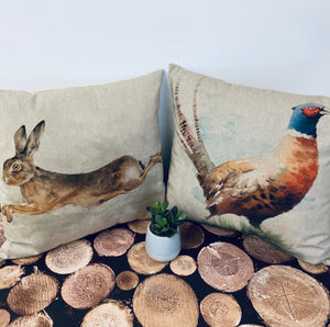 Fabric Cushion, Leaping Hare - Butterfly Crafts