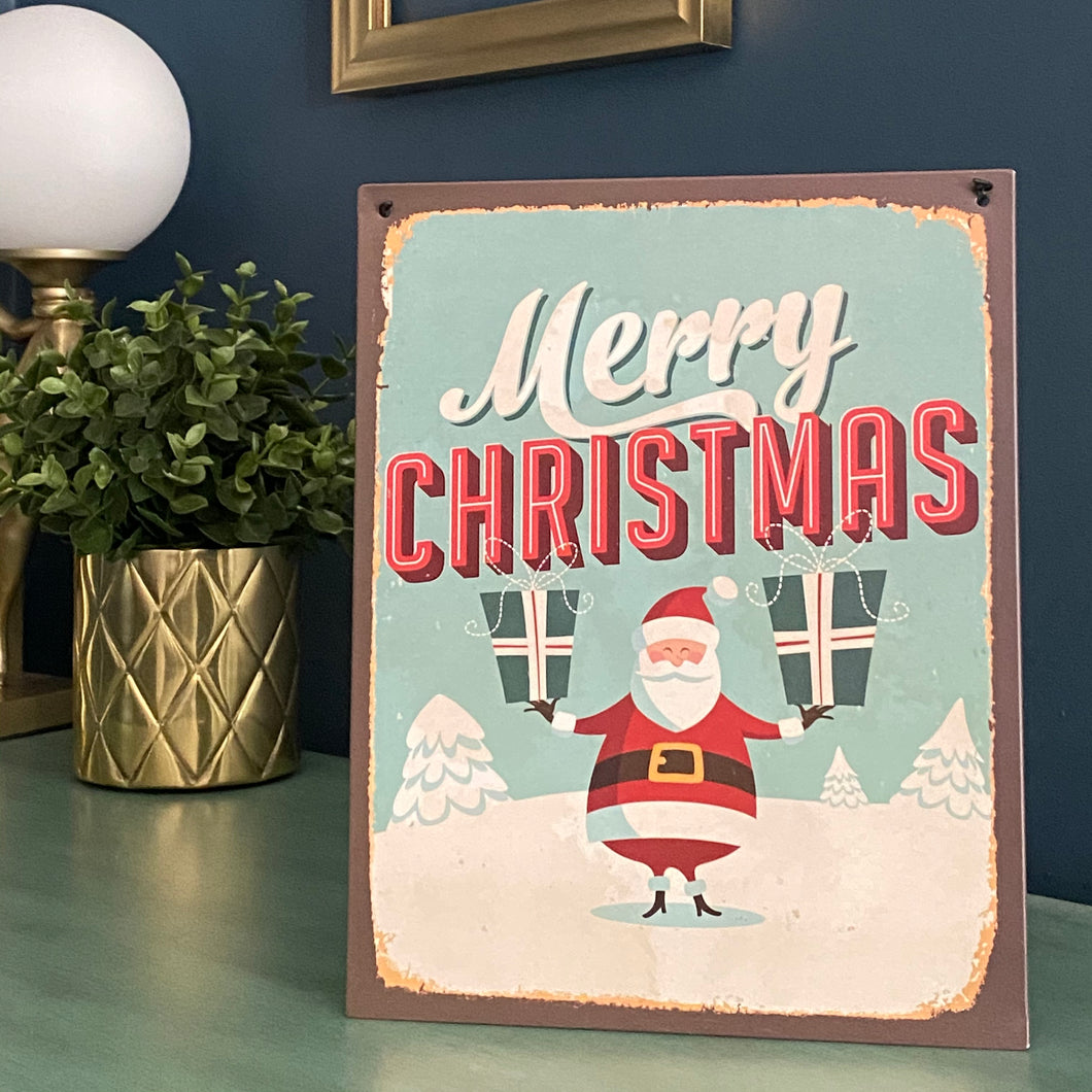 Metal Christmas Sign - Butterfly Crafts