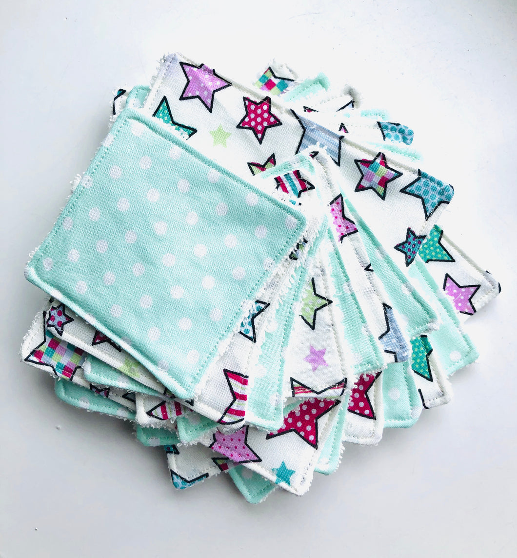 Re-usable cotton wipes - 3 sizes available - FREE POSTAGE - Butterfly Crafts