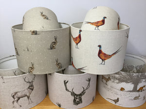 Drum Lampshade, Standing Stag - Butterfly Crafts