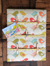 Load image into Gallery viewer, Fabric Notice Board - Orange Birds - Butterfly Crafts