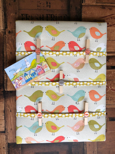 Fabric Notice Board, Orange Birds - Butterfly Crafts