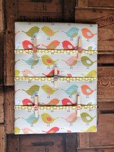Fabric Notice Board - Orange Birds - Butterfly Crafts