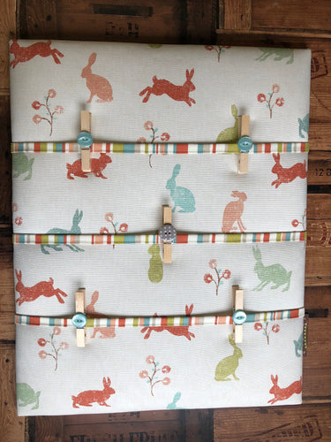Fabric Notice Board, Bunny Rabbit - Butterfly Crafts