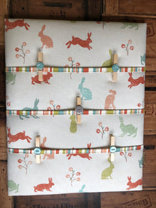 Fabric Notice Board - Bunny Rabbit - Butterfly Crafts