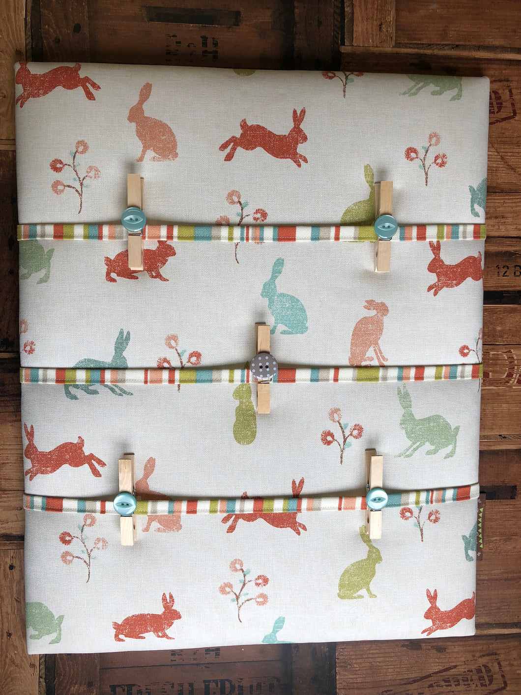Fabric Notice Board - Bunnies - Butterfly Crafts