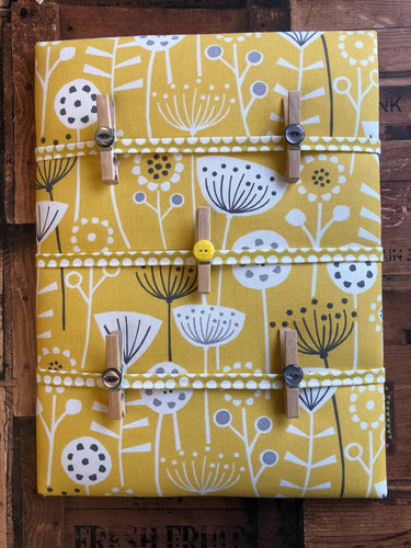 Fabric Notice Board - Yellow Flowers - Butterfly Crafts